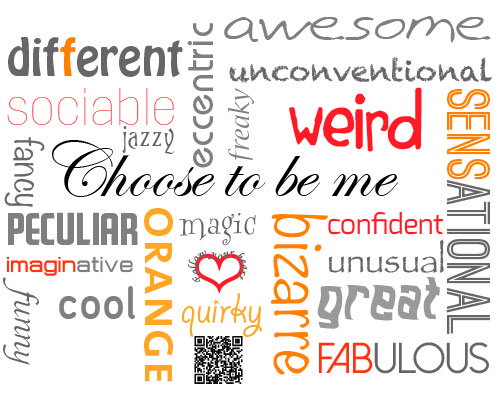 choose to be me quirky