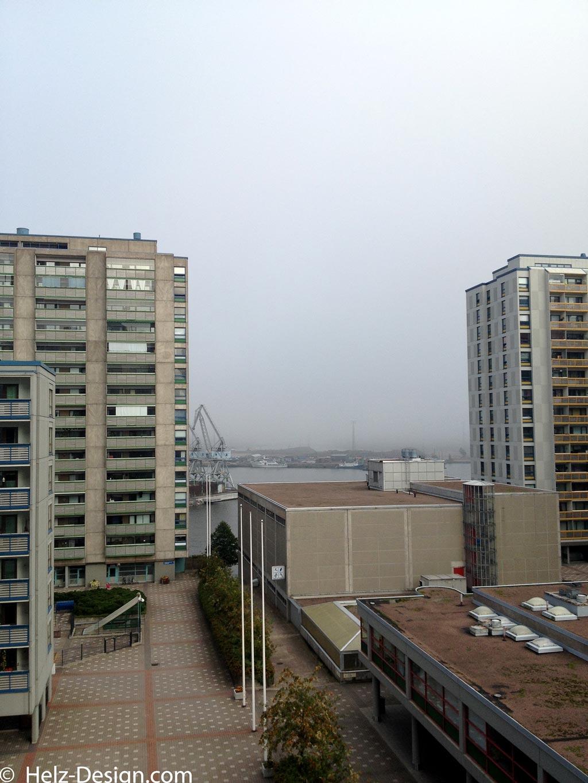 Haapaniemenkatu –im Hintergrund sollte eine Brücke und Kohlehalde sichtbar sein.