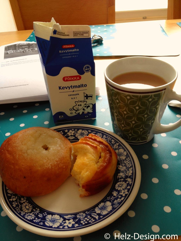 Erstes Frühstück in Finnland