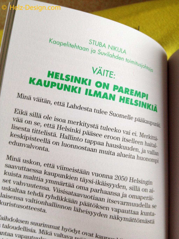 Mitä tapahtuu huomenna helsingille? Was ist morgen in Helsinki los? Blick ins Buch
