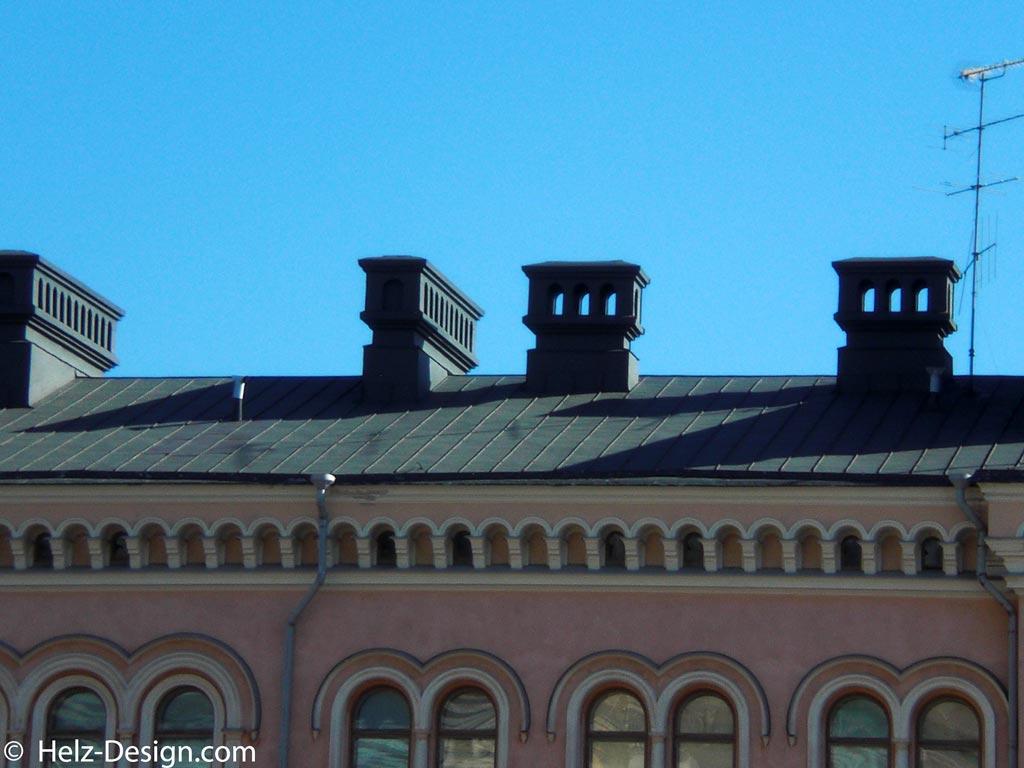 Dachdetails eines Hauses in der Snellmaninkatu