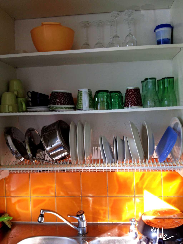 Küchenschrank mit Abtropvorrichtung