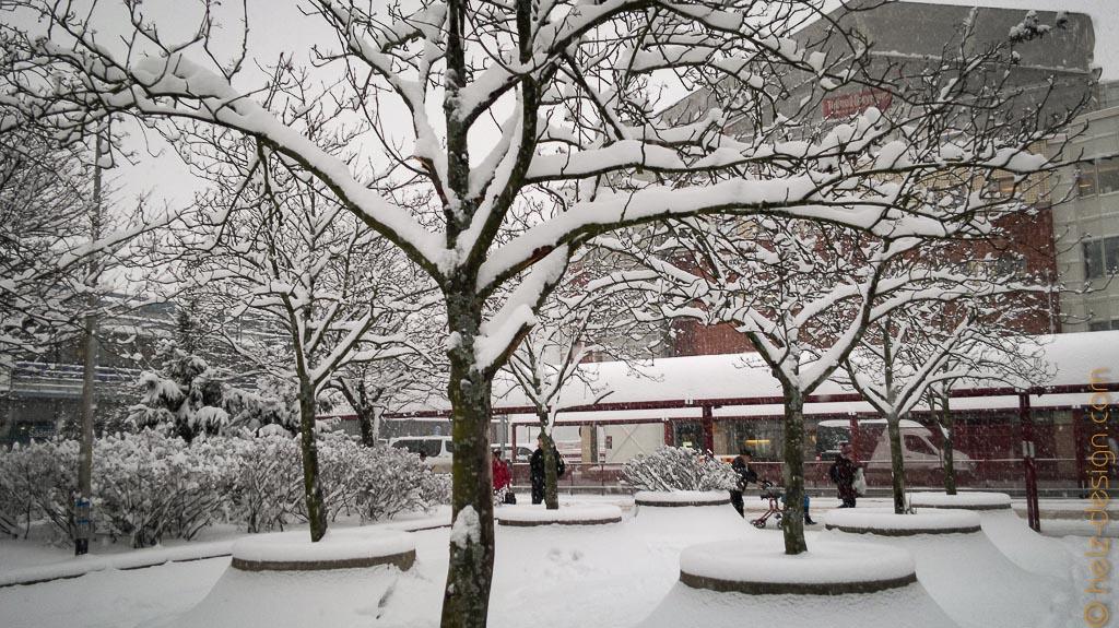 Winterwonderland in Itäkeskus