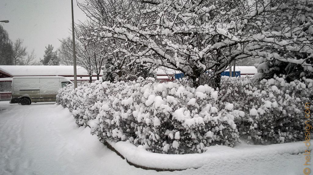 Überall dick Schnee