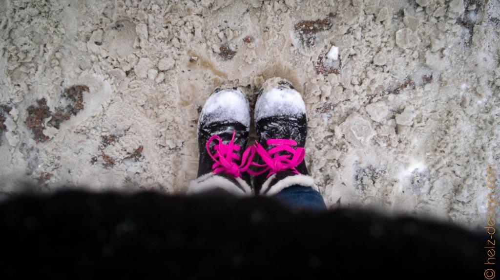 Meine Füsse im Schnee