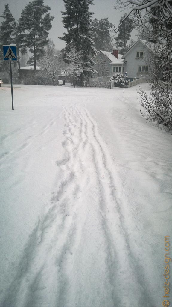 echt hoher Schnee