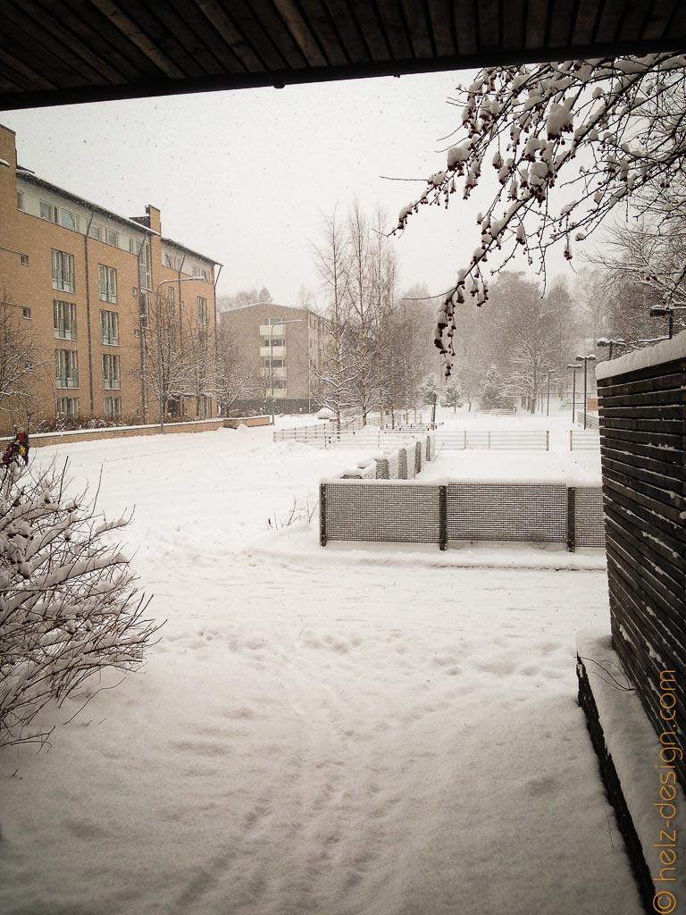 Schnee in Puotila