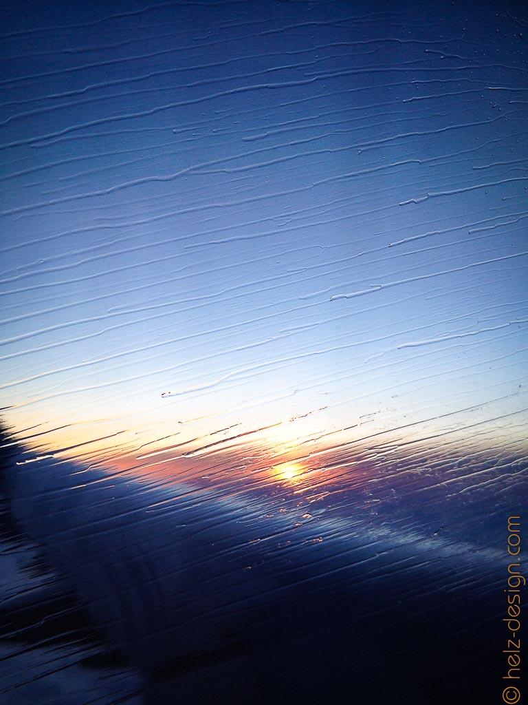 Der Sonnenaufgang kann erahnt werden
