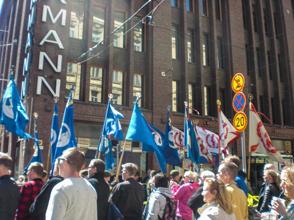 Flaggen vor Stockmann