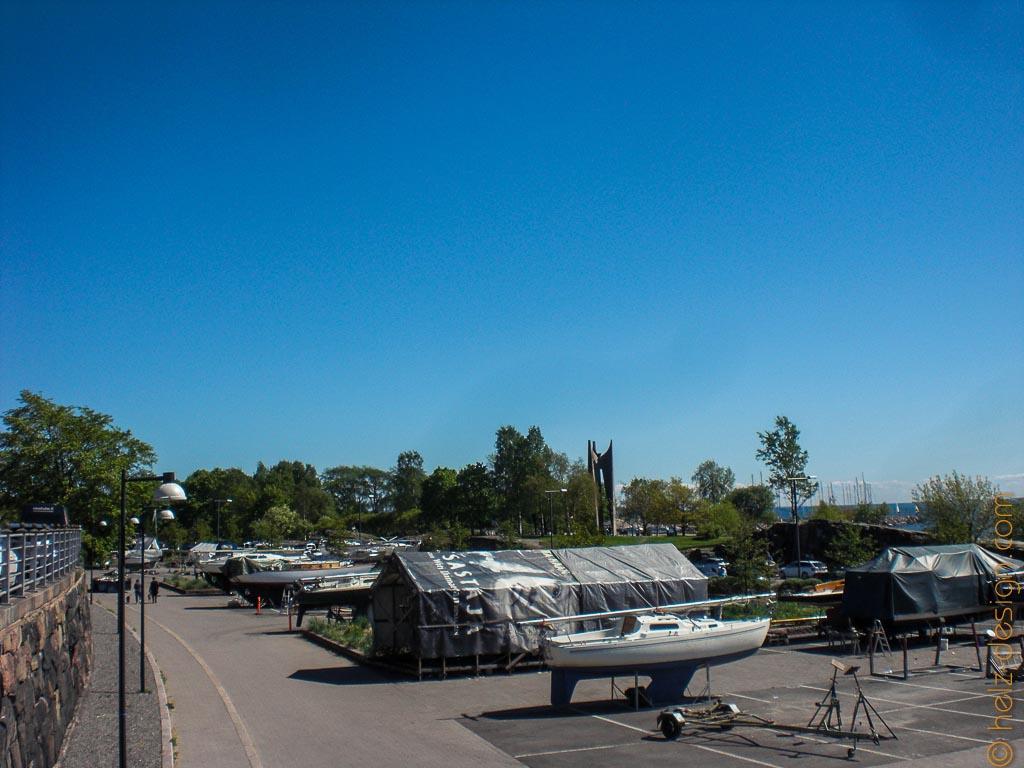Ein paar Boote sind hier noch geparkt
