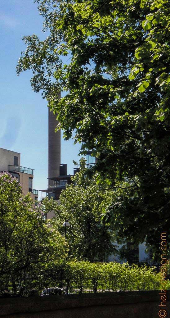 Munkkisaari mit Fabrikturm