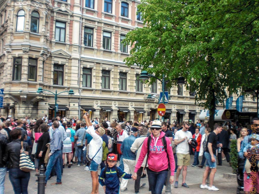 Zuschauer am Esplanad