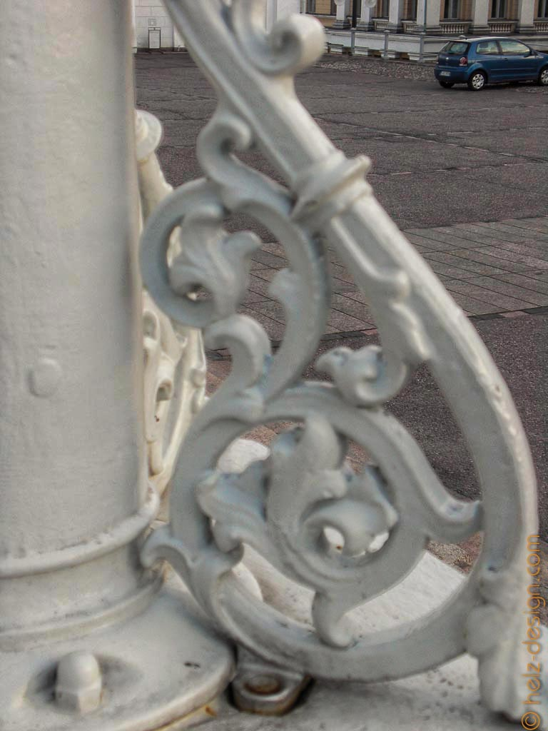 Details an einer Laterne
