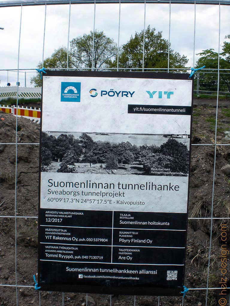 Hier wird gebaut … Tunnel zur Suomenlinna wird renoviert