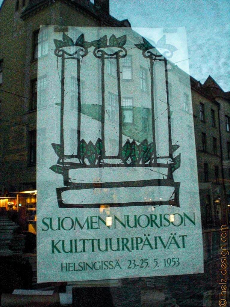 Schild in einem Laden an der Fredrikinkatu