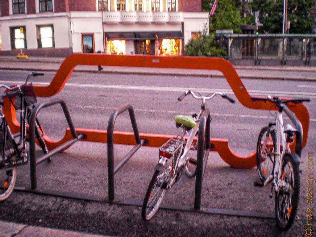 Fahrradständer am Erottaja