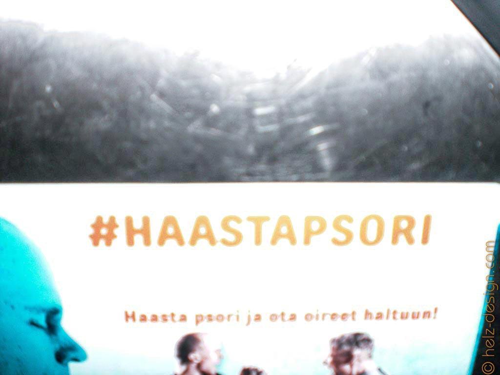 #haastapsori … Werbung in der Tram