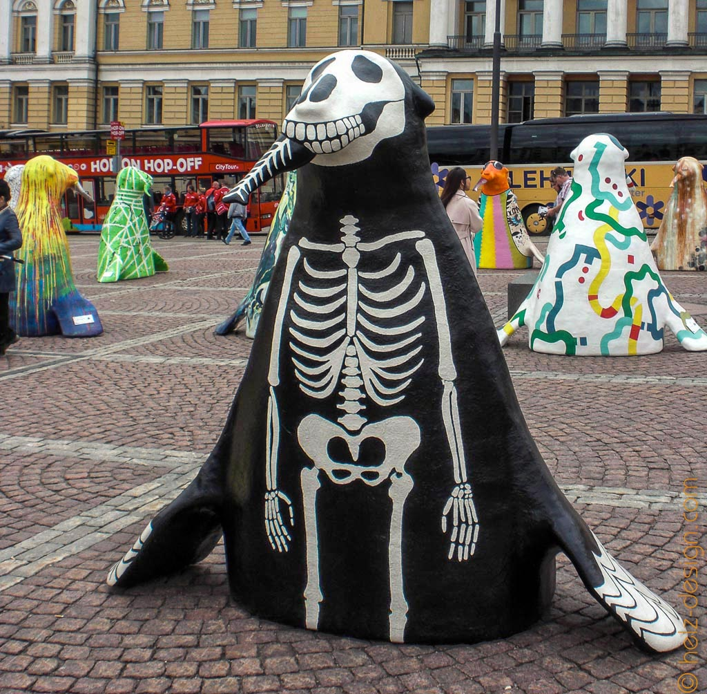 Skelett-Robbe