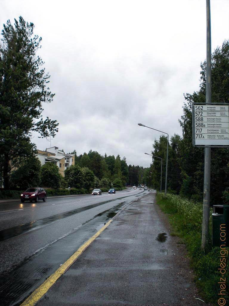 Bushaltestelle in Jakomäki