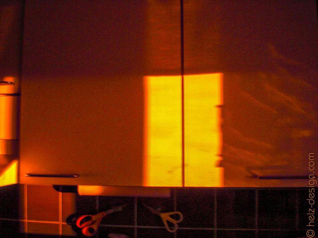 Sonnenuntergang in der Küche