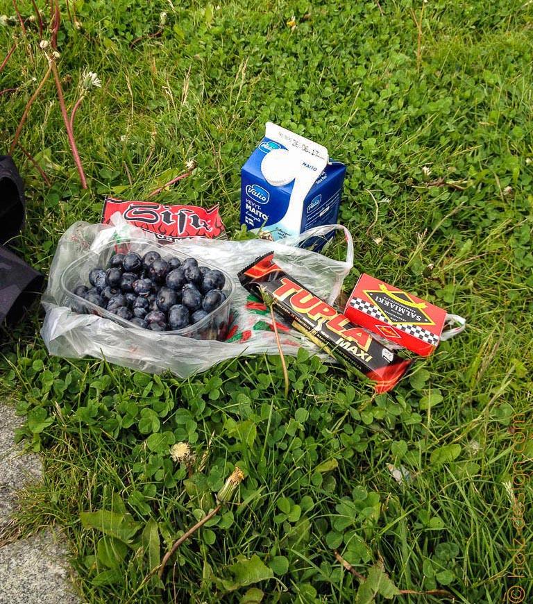 Picknick: Mustikoita – Heidelbeeren, Sisu, Milch, Salmiakki und Tupla