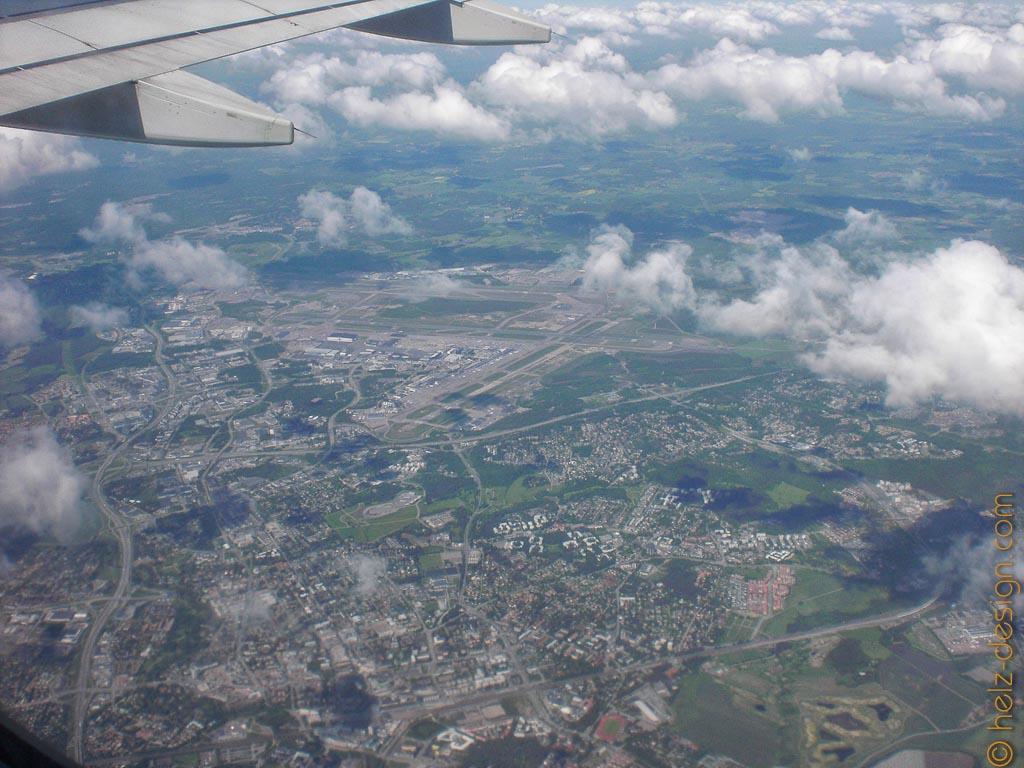 Vantaa – hinten seht ihr den Flughafen