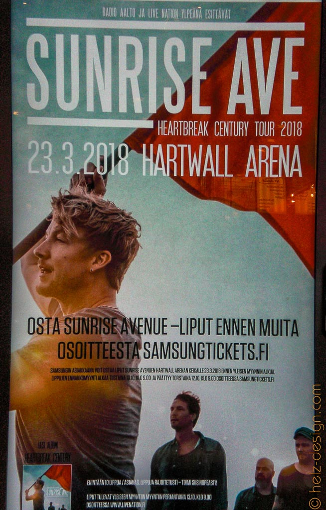 Sunrise Ave in der Hartwall Arena