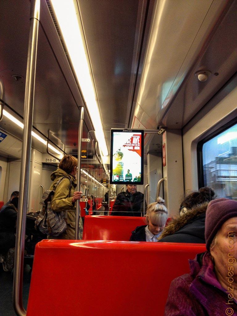 Sunrise Avenue Werbung in der Metro