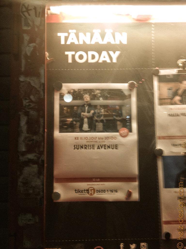 Tänään Sunrise Avenue