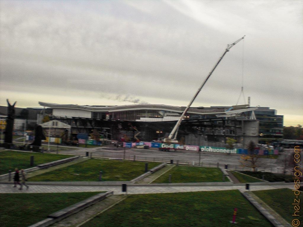 Baustelle der neuen Stadtbibliothek