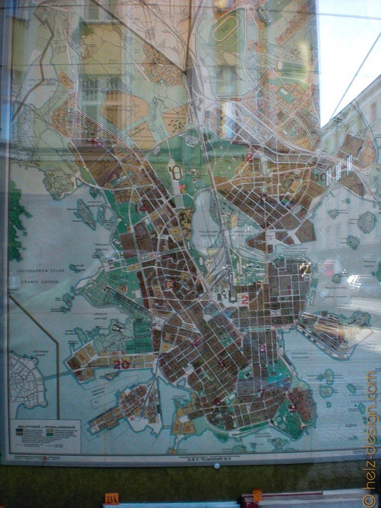 Alte Karte von Helsinki