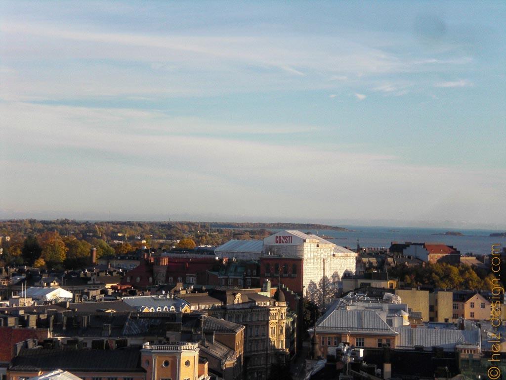 Und man kann total toll sehen, wie grün Helsinki ist