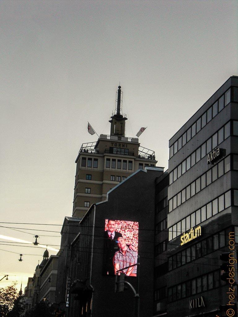 Blick zum Hotel Torni – da oben waren wir