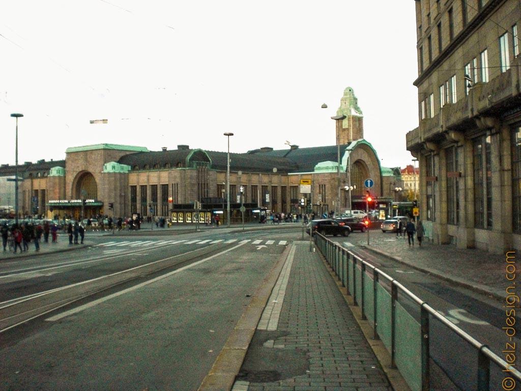 Kaivokatu mit Blick zum Bahnhof