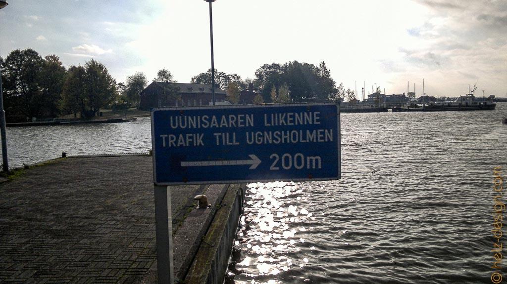 Aber zur Fähre nach Uunisaari geht es bitte da lang … noch 200 m