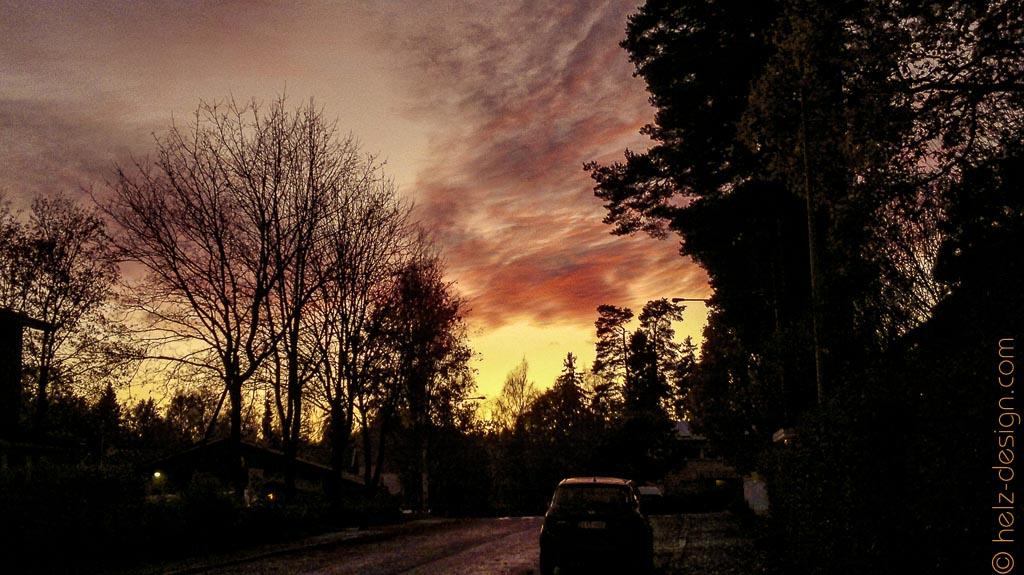 Sonnenuntergang in Toivola