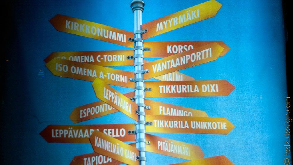 Von Koirkkonummi über Tikkurilla und Espoo