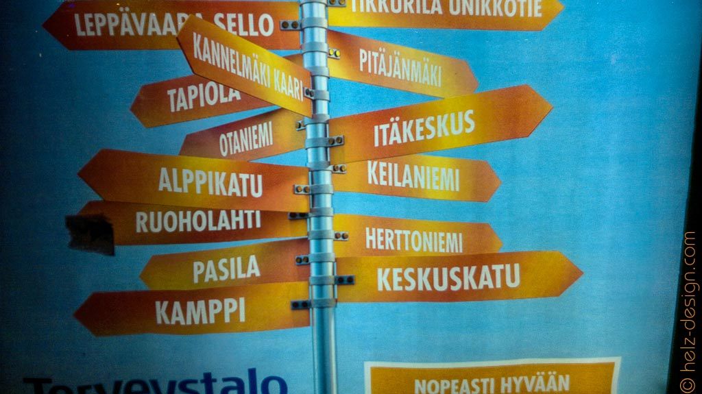 Auch in Itäkeskus, Herttoniemi, Kamppi und Keskuskatu