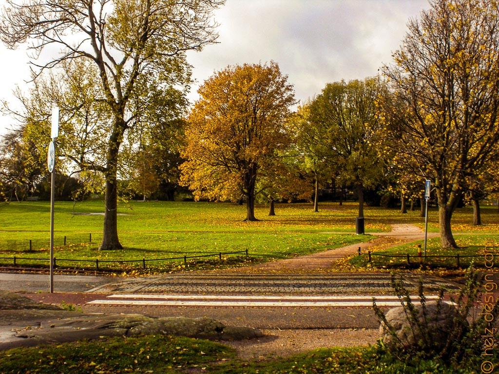 Park ohne Radfahrer