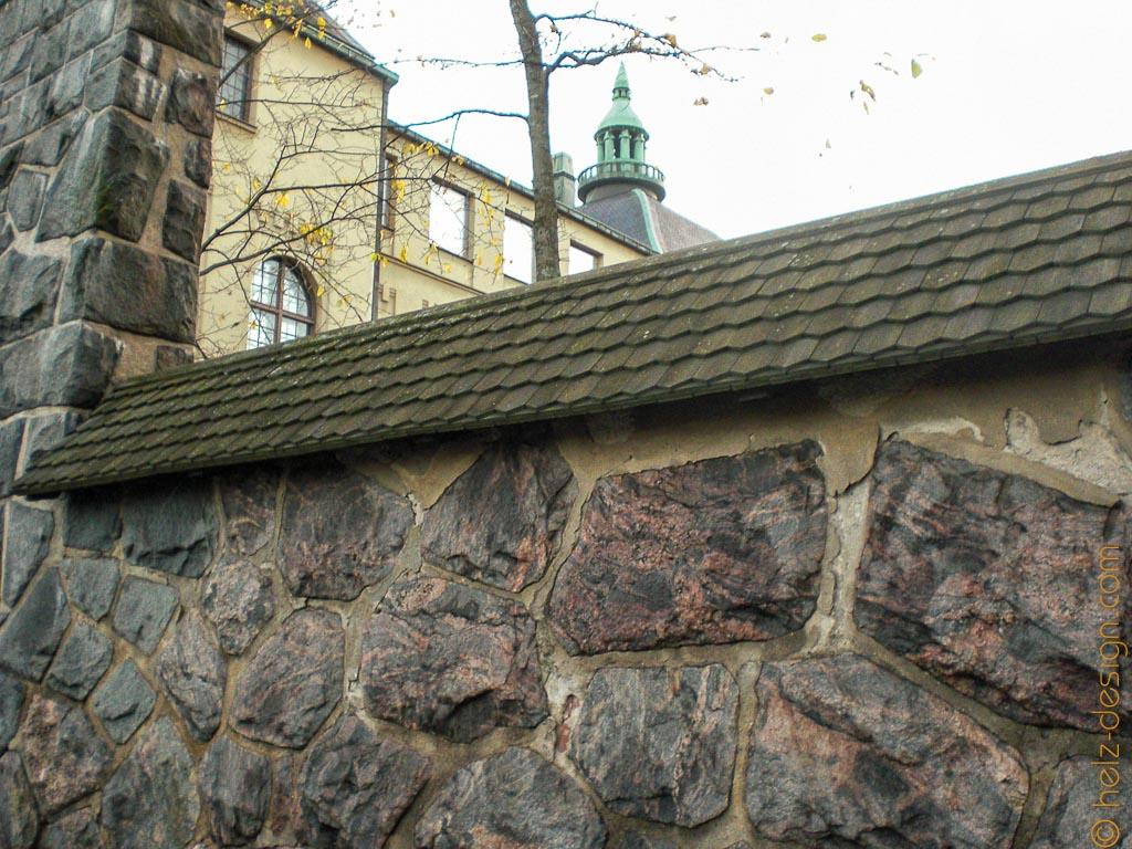 Mauer um den Matiaksenlehto, Garten des Suomen kansallismuseo /Finnisches Nationalmuseum
