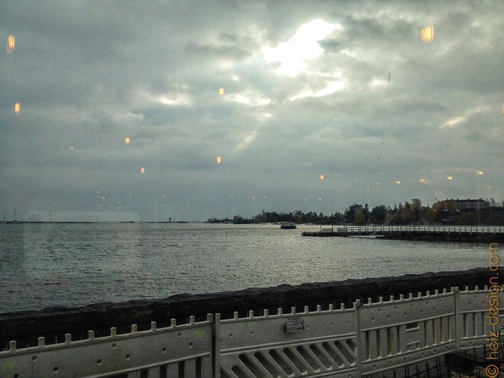 Blick übers Meer vom Cafe Ursula … man sieht die Baustelle