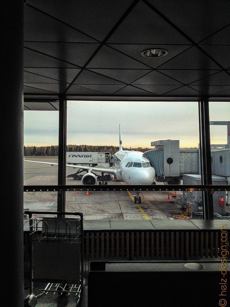 Unser Flugzeug ist da