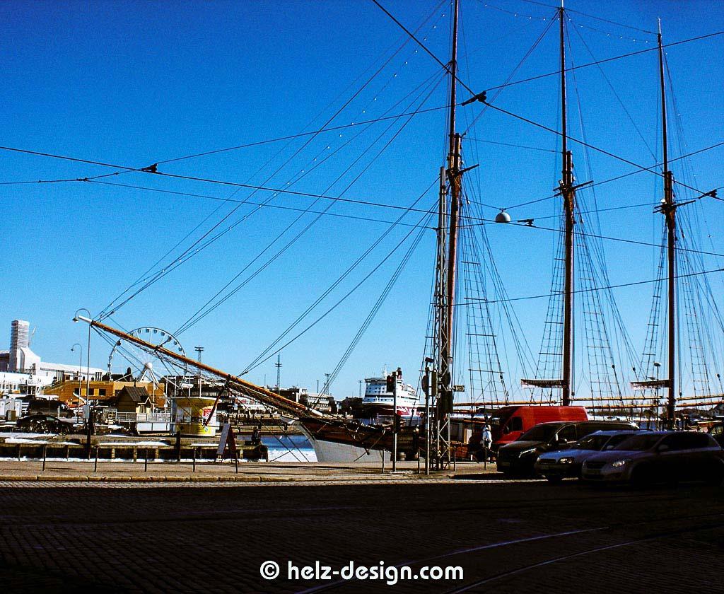 Segelschiff am Kauppatori