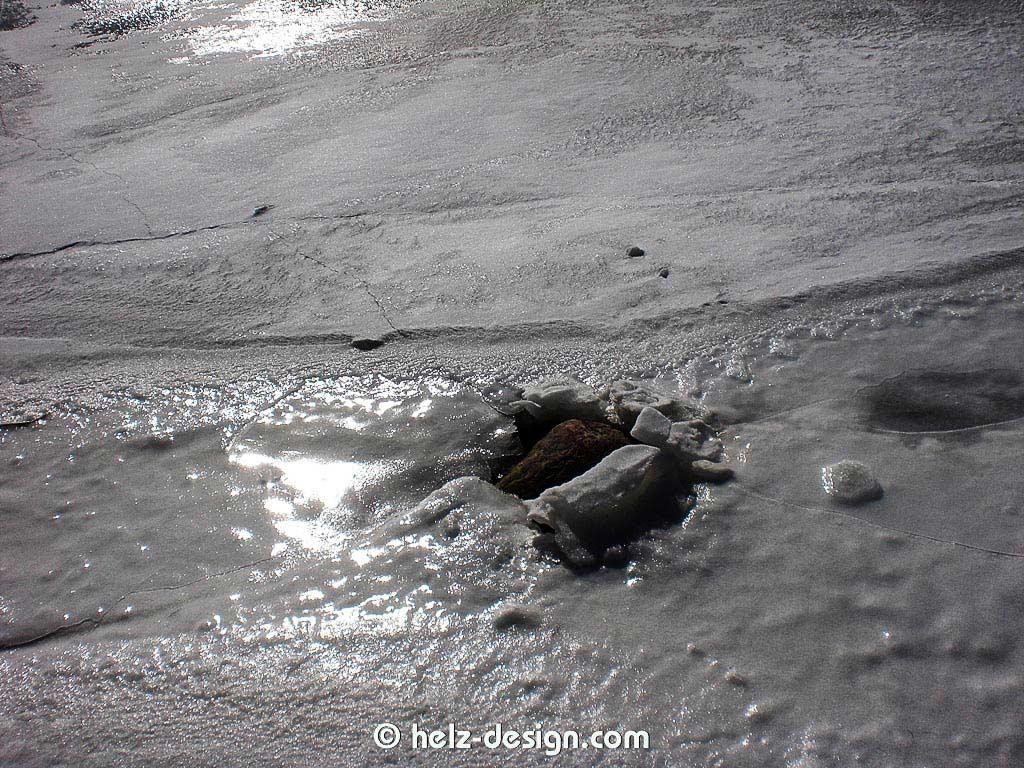 eingefrorene Felsen