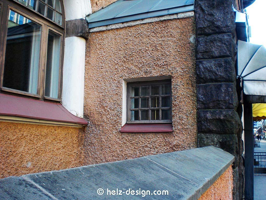 Ist das ein Graben hinter der Mauer? Oder ein unerreichbarer Balkon?