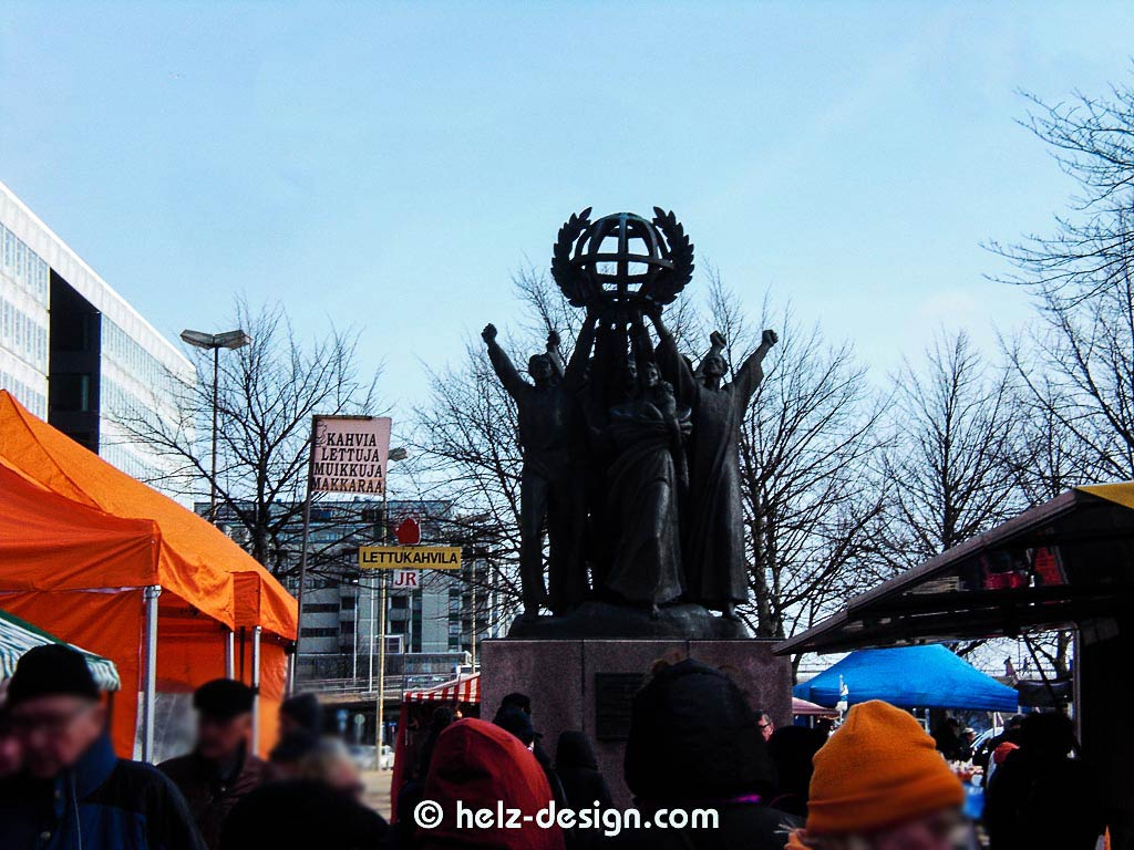 Patsas Maailman rauha – Statue des Weltfriedens