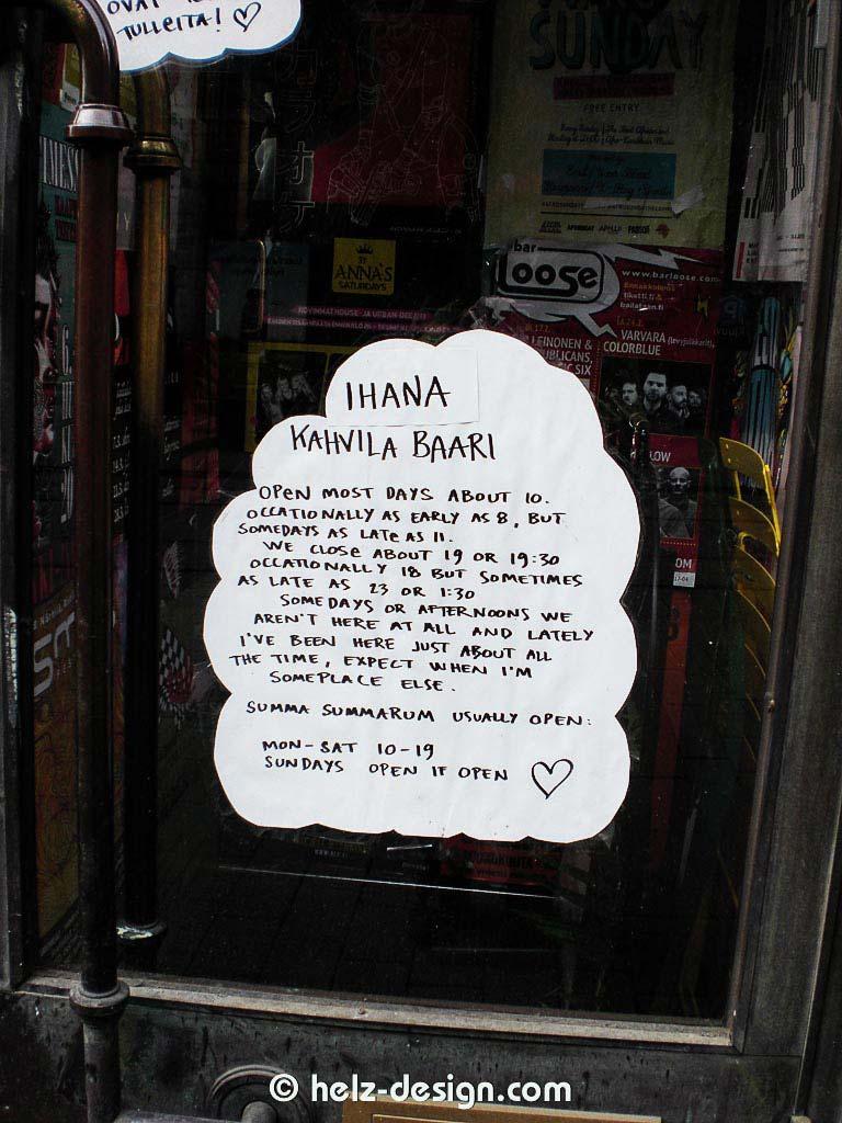 Summa Summarum Ihana Kahvilla Baari