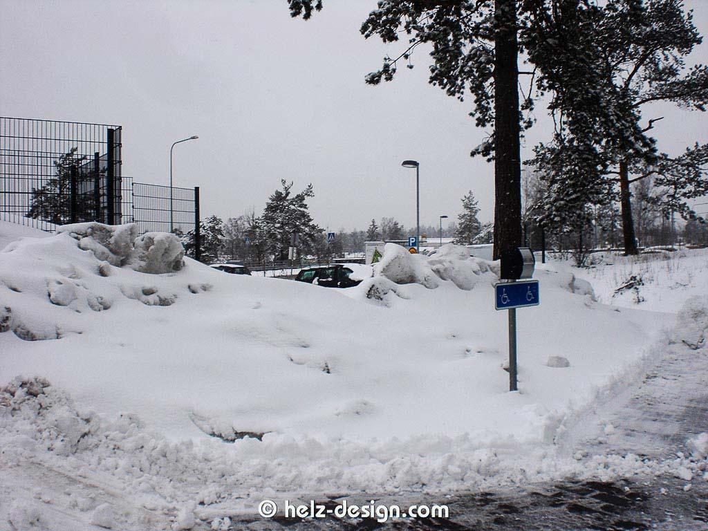 Schnee in Jakomäki