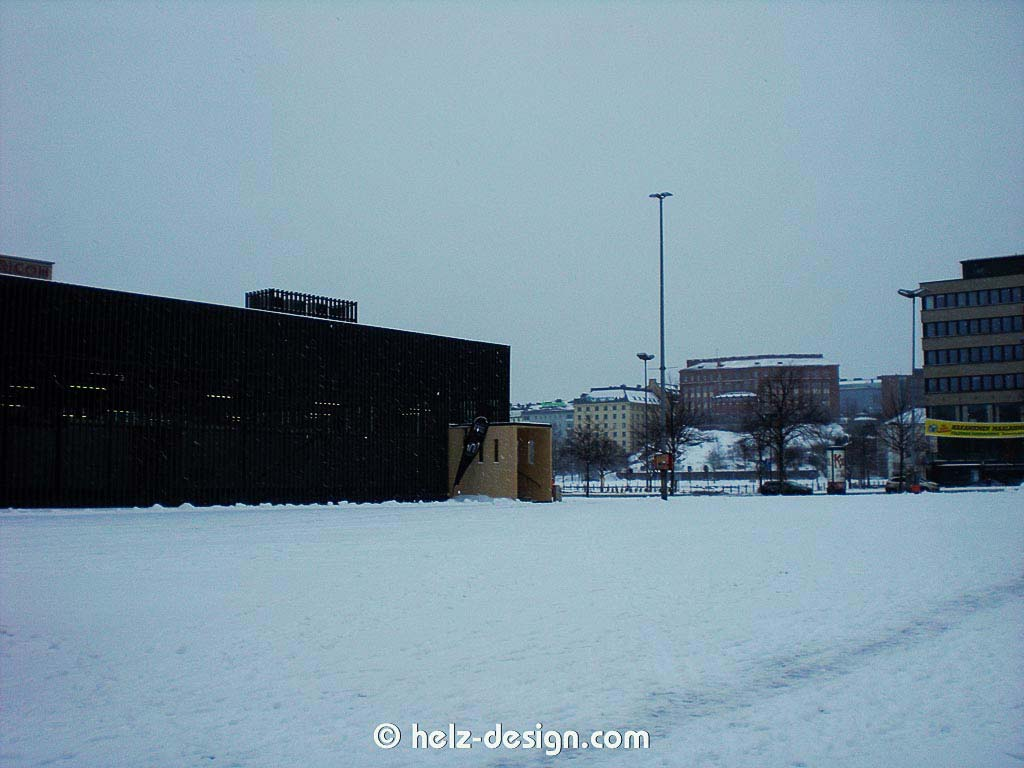 Hakaniemi –Warten auf den Bus