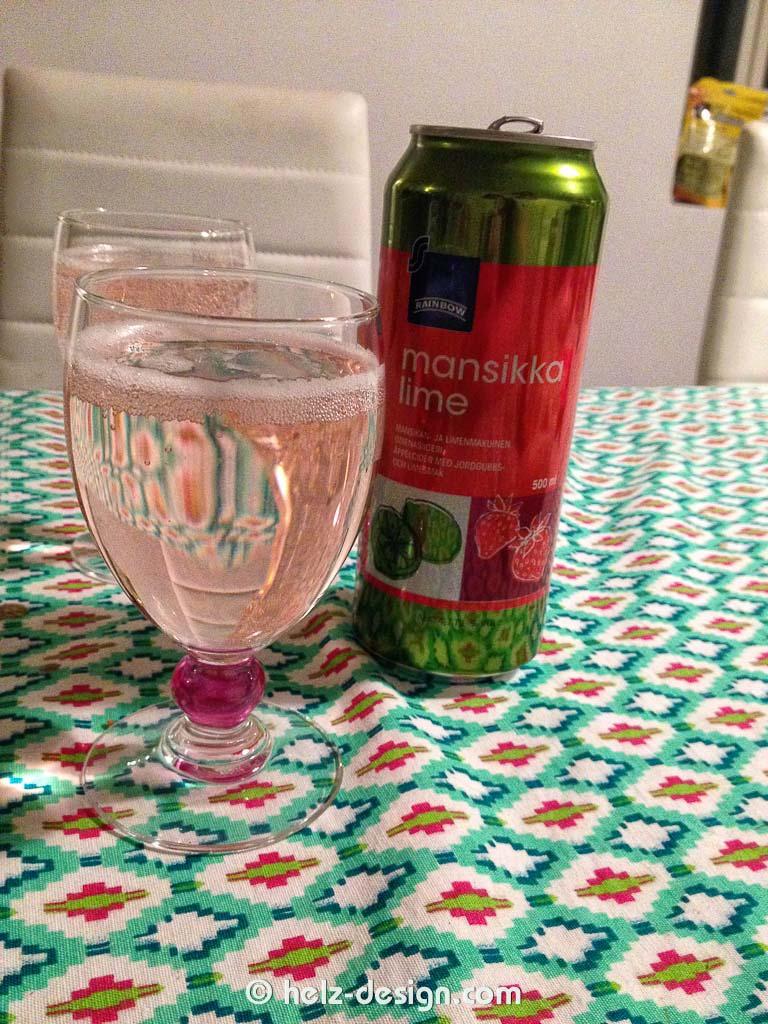 Siideri mit Erdbeer-Limette